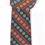 Members' Tie Style 2 - Navy and Maroon