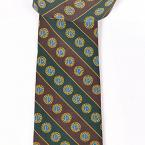 Members' Tie Style 2 - Green and Brown